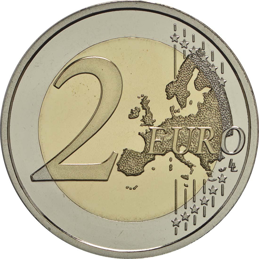 Vorderseite :Spanien : 2 Euro Kirchen des Königreichs Asturien  2017 PP