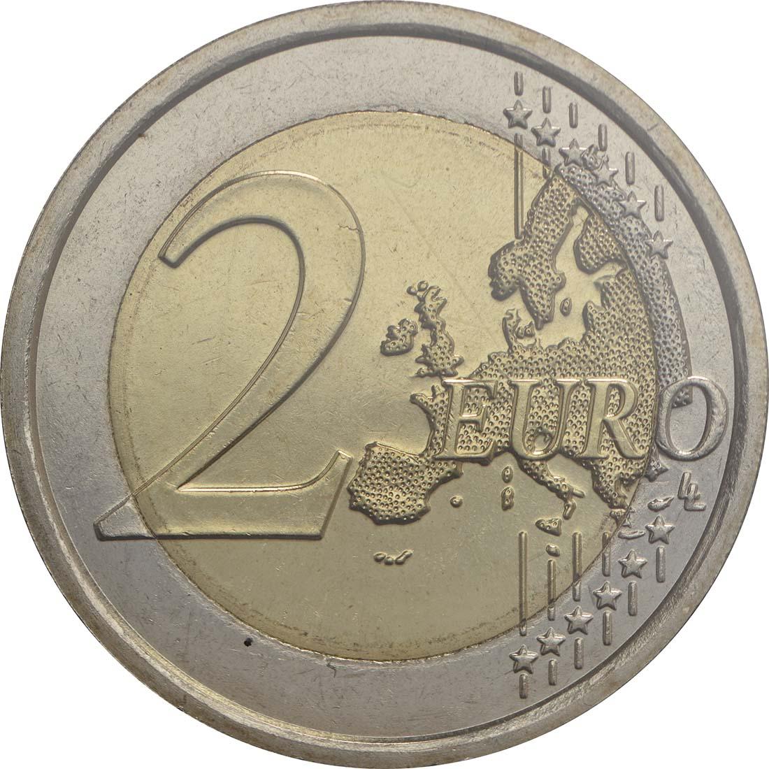 Vorderseite :San Marino : 2 Euro 750. Geburtstag von Giotto  2017 Stgl.