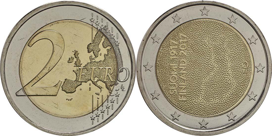 Finnland : 2 Euro 100. Jahrestag der Unabhängigkeit Finnlands  2017 bfr