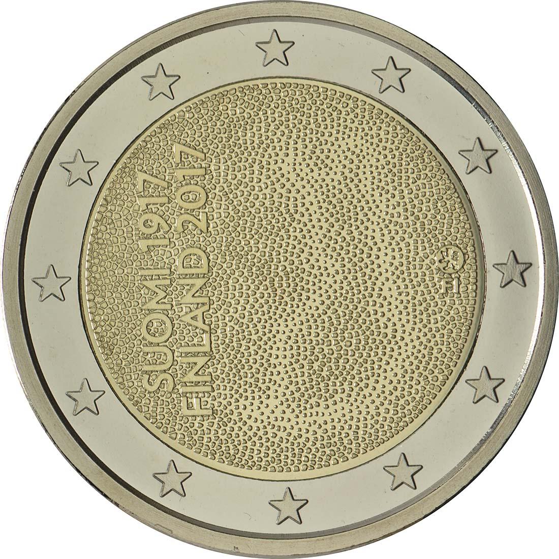Rückseite:Finnland : 2 Euro 100. Jahrestag der Unabhängigkeit Finnlands  2017 PP