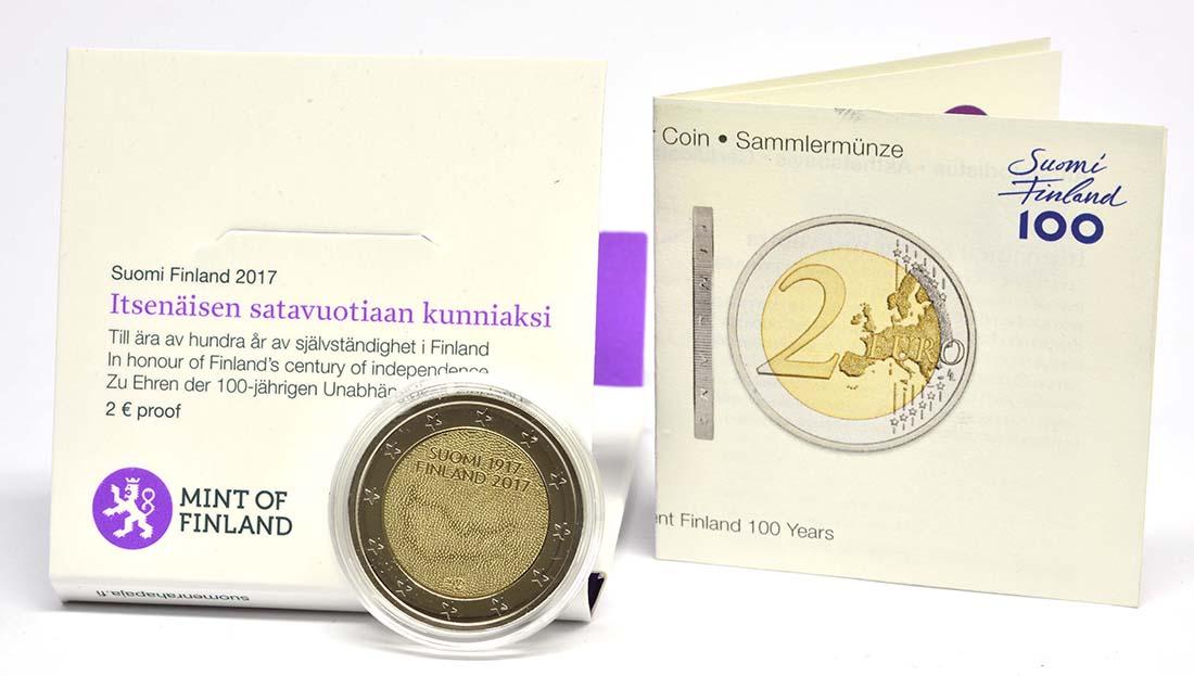Lieferumfang:Finnland : 2 Euro 100. Jahrestag der Unabhängigkeit Finnlands  2017 PP