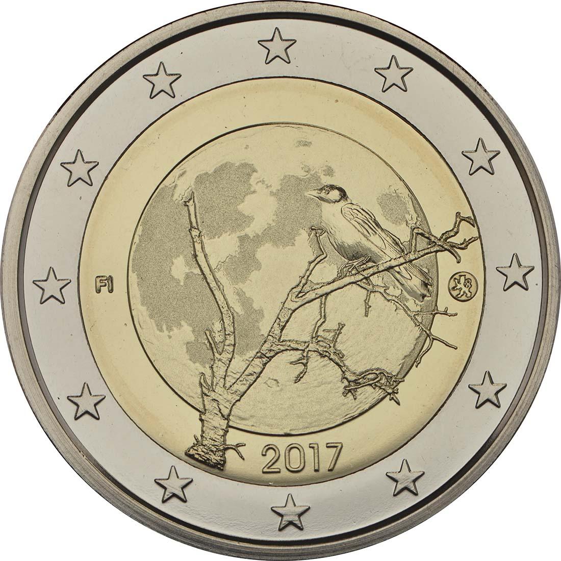 Rückseite :Finnland : 2 Euro Finnische Natur  2017 PP