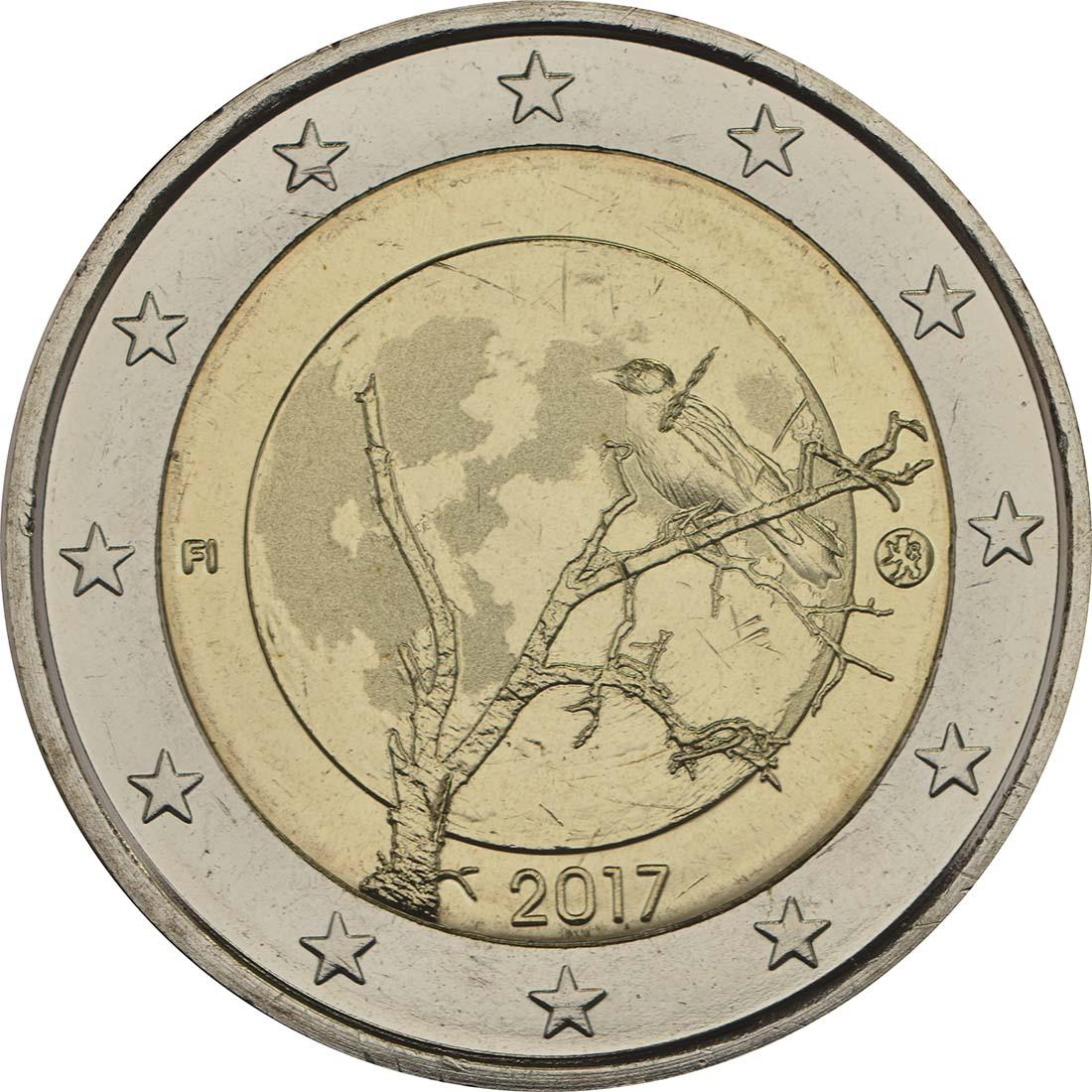 Rückseite:Finnland : 2 Euro Finnische Natur  2017 bfr