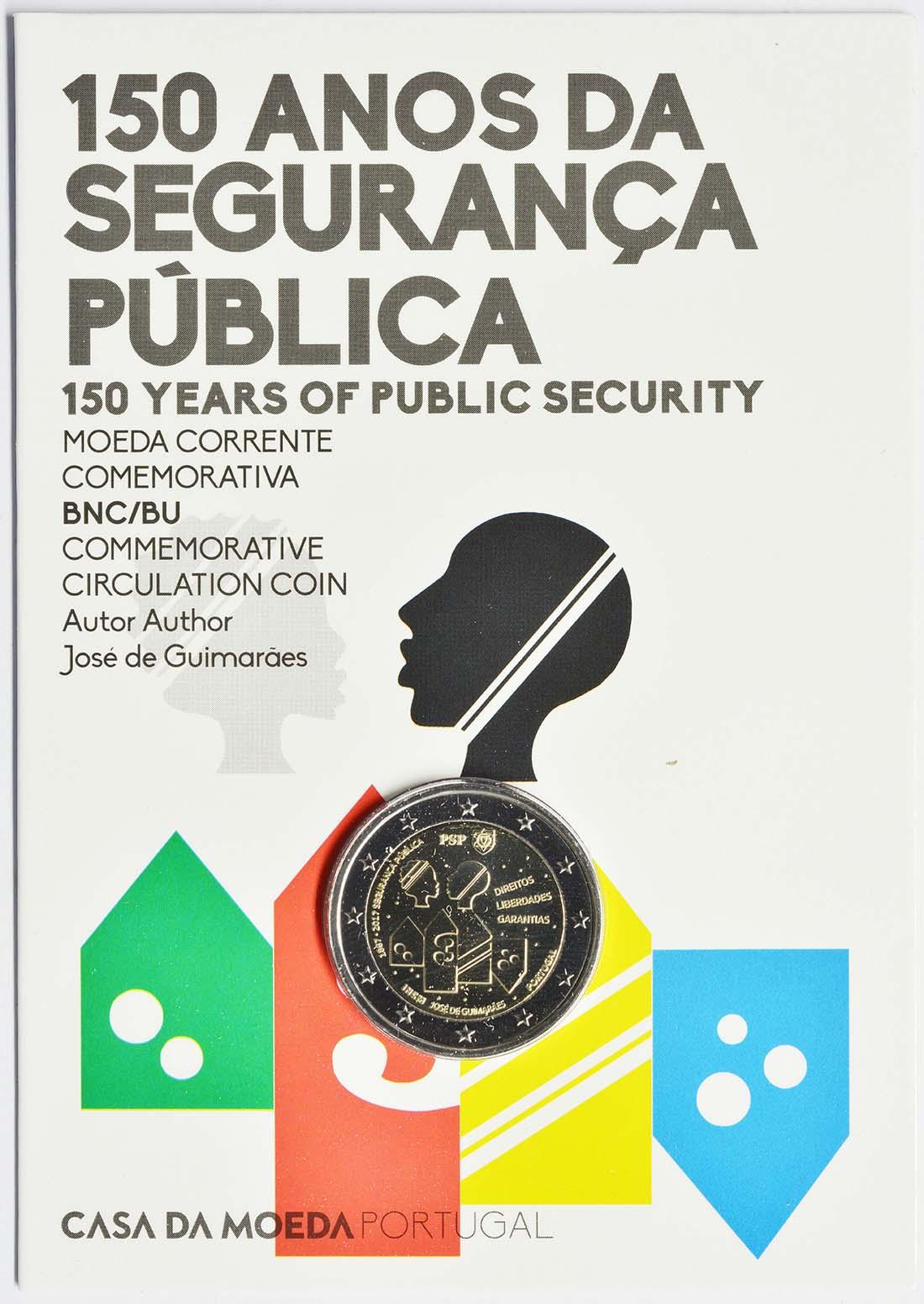 Lieferumfang:Portugal : 2 Euro 150 Jahre Sicherheit / Polizei  2017 Stgl.
