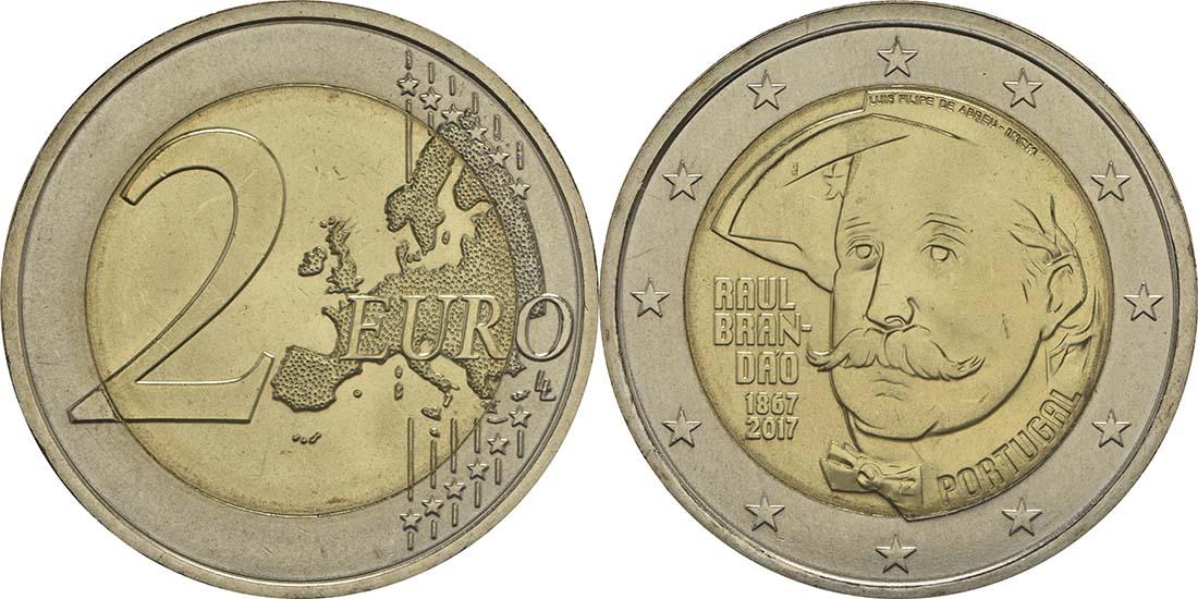 Portugal : 2 Euro 150 Jahre Raul Brandao  2017 bfr