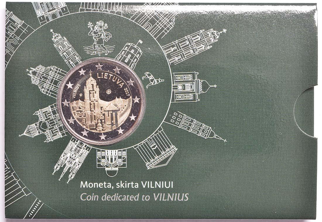 Übersicht:Litauen : 2 Euro Vilnius - Hauptstadt der Kunst und Kultur  2017 Stgl.