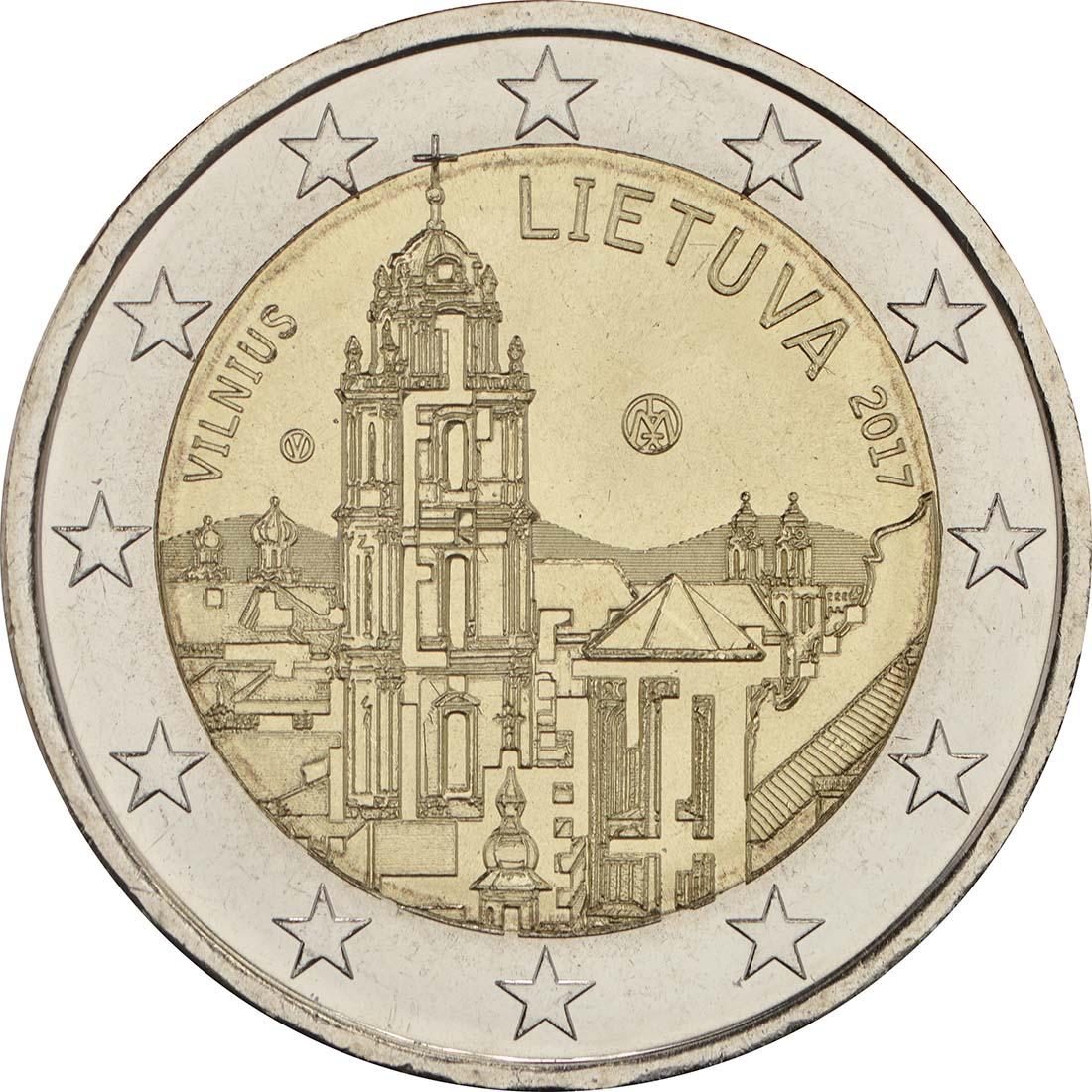 Rückseite :Litauen : 2 Euro Vilnius - Hauptstadt der Kunst und Kultur  2017 bfr
