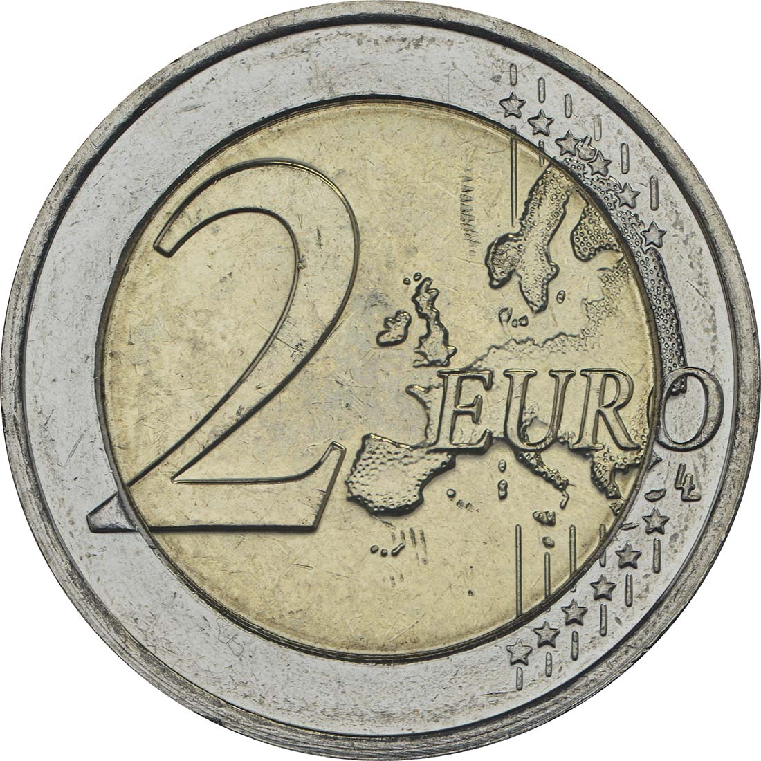 Vorderseite:Luxemburg : 2 Euro 200. Geburtstag des Großherzogs Guillaume III.  2017 bfr