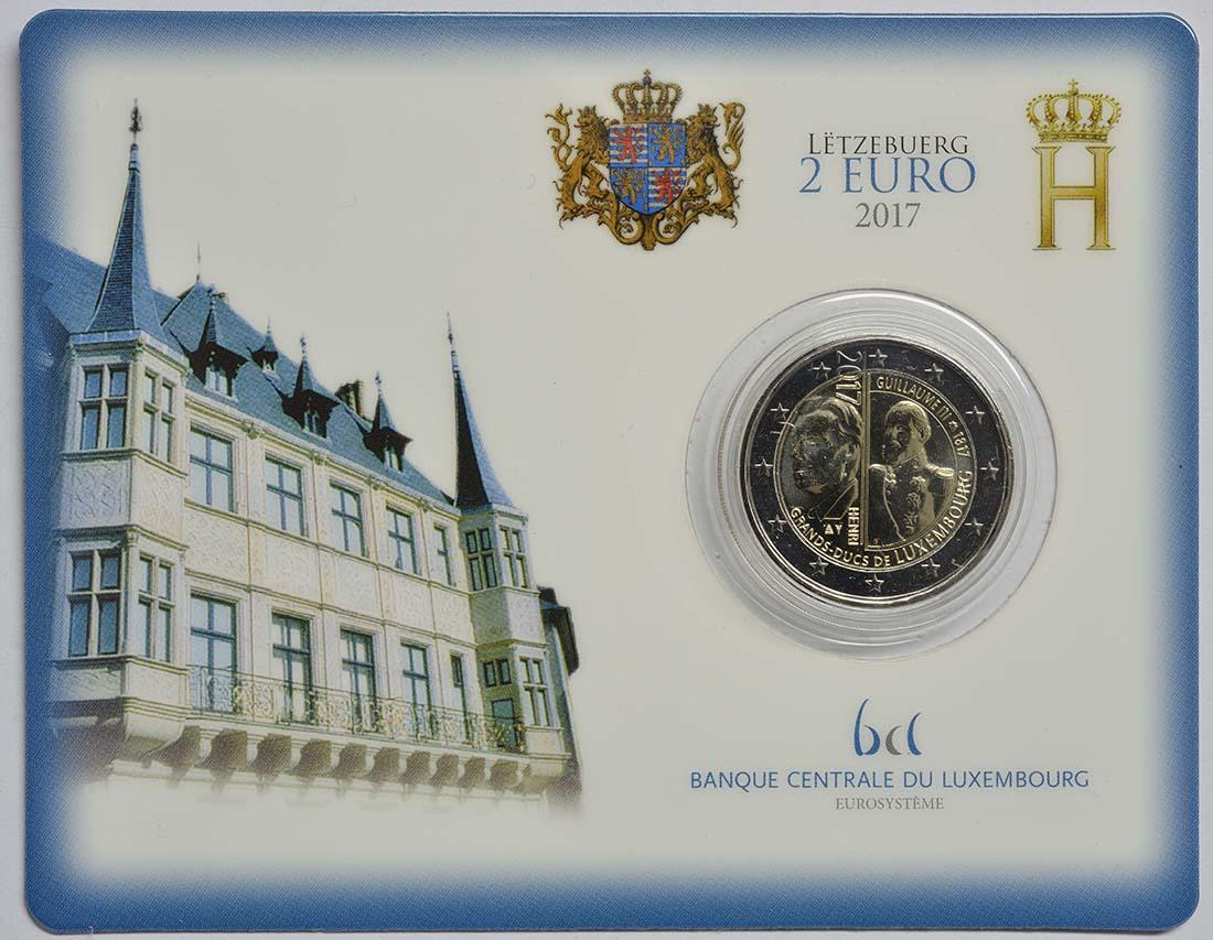 Übersicht:Luxemburg : 2 Euro 200. Geburtstag des Großherzogs Guillaume III.  2017 Stgl.
