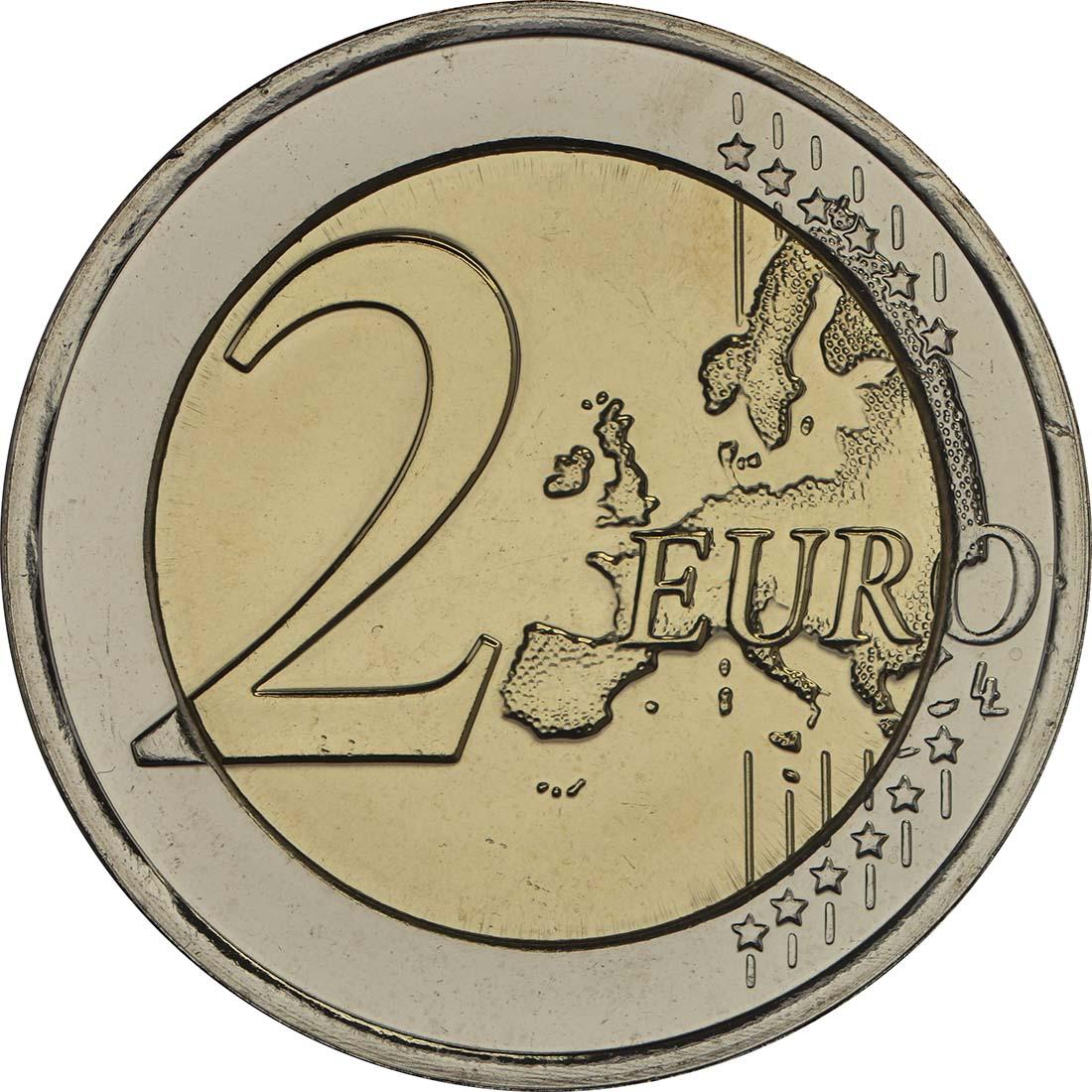 Vorderseite:Luxemburg : 2 Euro 200. Geburtstag des Großherzogs Guillaume III.  2017 Stgl.