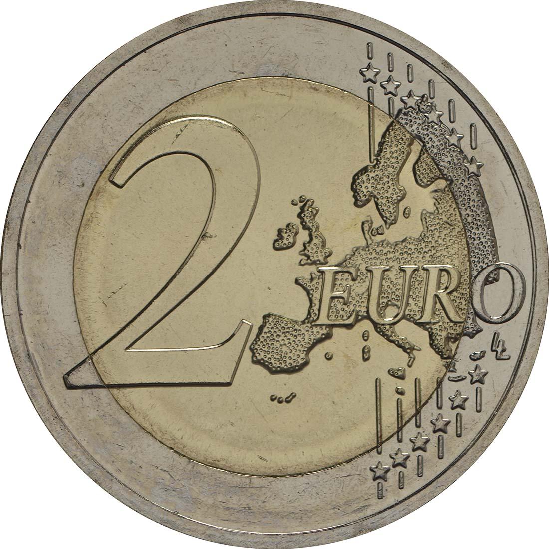 Vorderseite:Estland : 2 Euro Estlands Weg in die Unabhängigkeit  2017 bfr