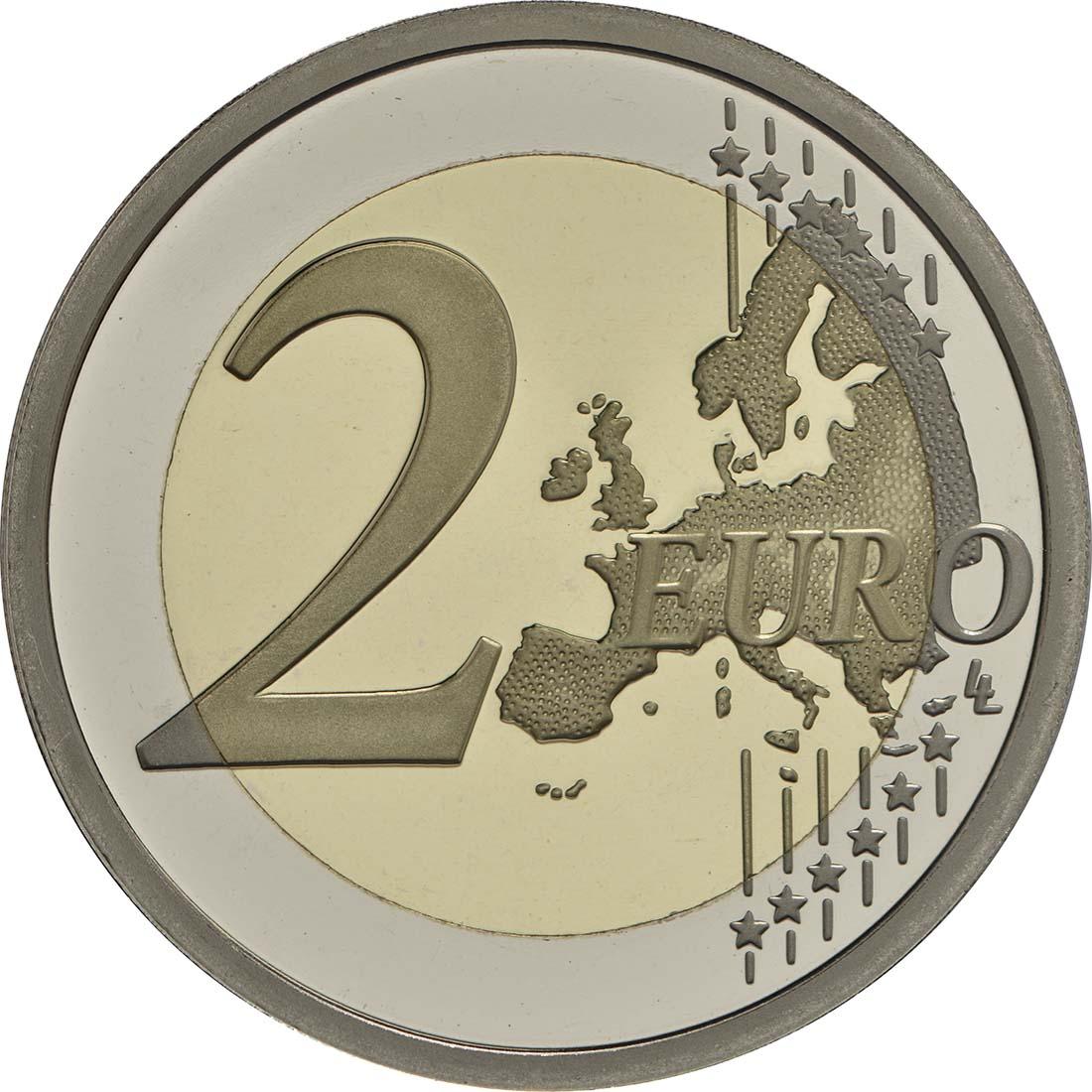 Vorderseite:Italien : 2 Euro 400. Jahrestag der Fertigstellung der Basilica di San Marco in Venedig  2017 PP