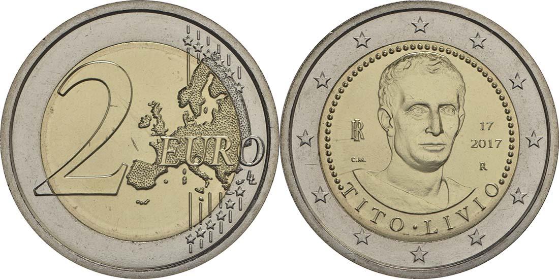 Italien : 2 Euro 2000. Todestag von Titus Livius  2017 bfr
