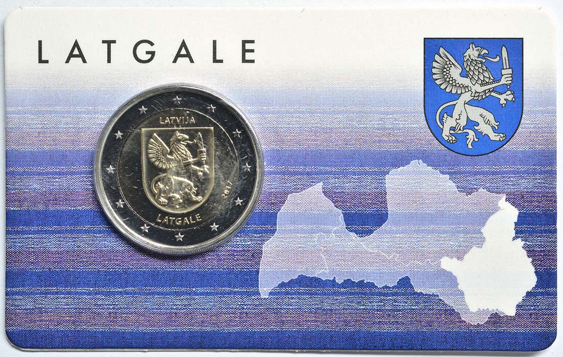 Lettland : 2 Euro Latgale  2017 Stgl.