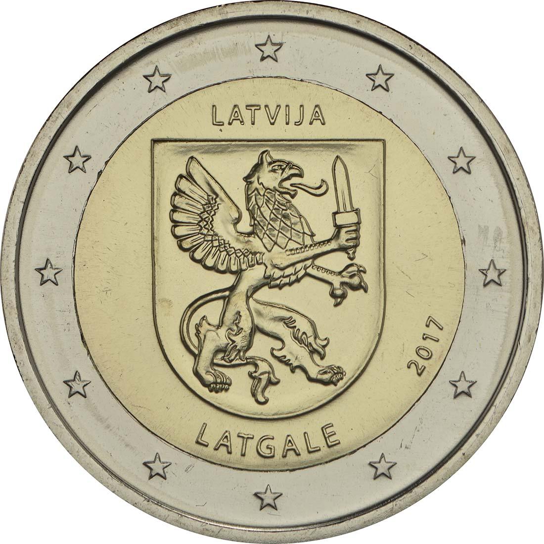Rückseite:Lettland : 2 Euro Latgale  2017 bfr