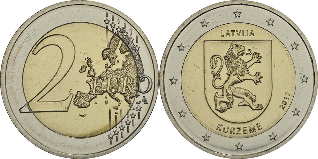 Lieferumfang:Lettland : 2 Euro Kurzeme  2017 bfr