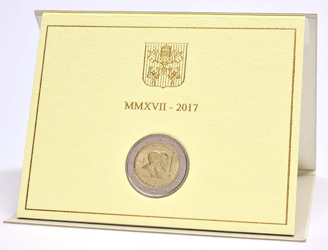 Lieferumfang:Vatikan : 2 Euro 1950. Jahrestag des Martyriums von St. Peter und Paul  2017 Stgl.