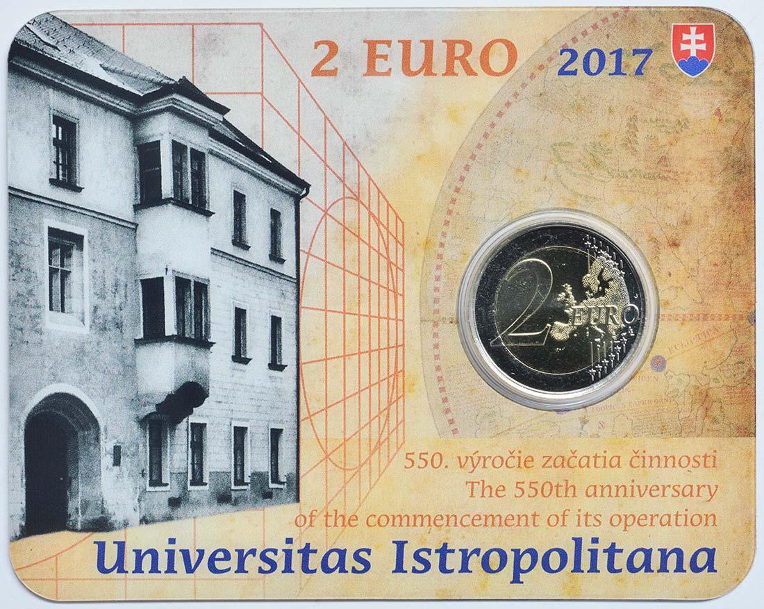 Übersicht:Slowakei : 2 Euro Universität Istropolitana - 550. Jahrestag  2017 Stgl.
