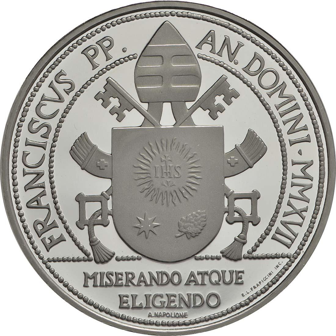 Rückseite:Vatikan : 23,88 Euro KMS Vatikan mit 20 Euro Gedenkmünze  2017 PP