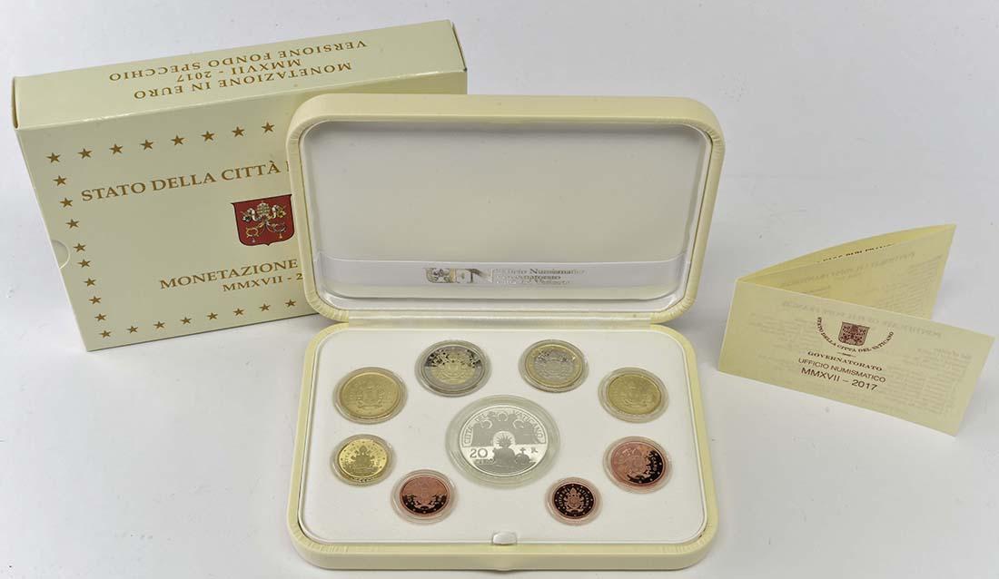 Lieferumfang:Vatikan : 23,88 Euro KMS Vatikan mit 20 Euro Gedenkmünze  2017 PP