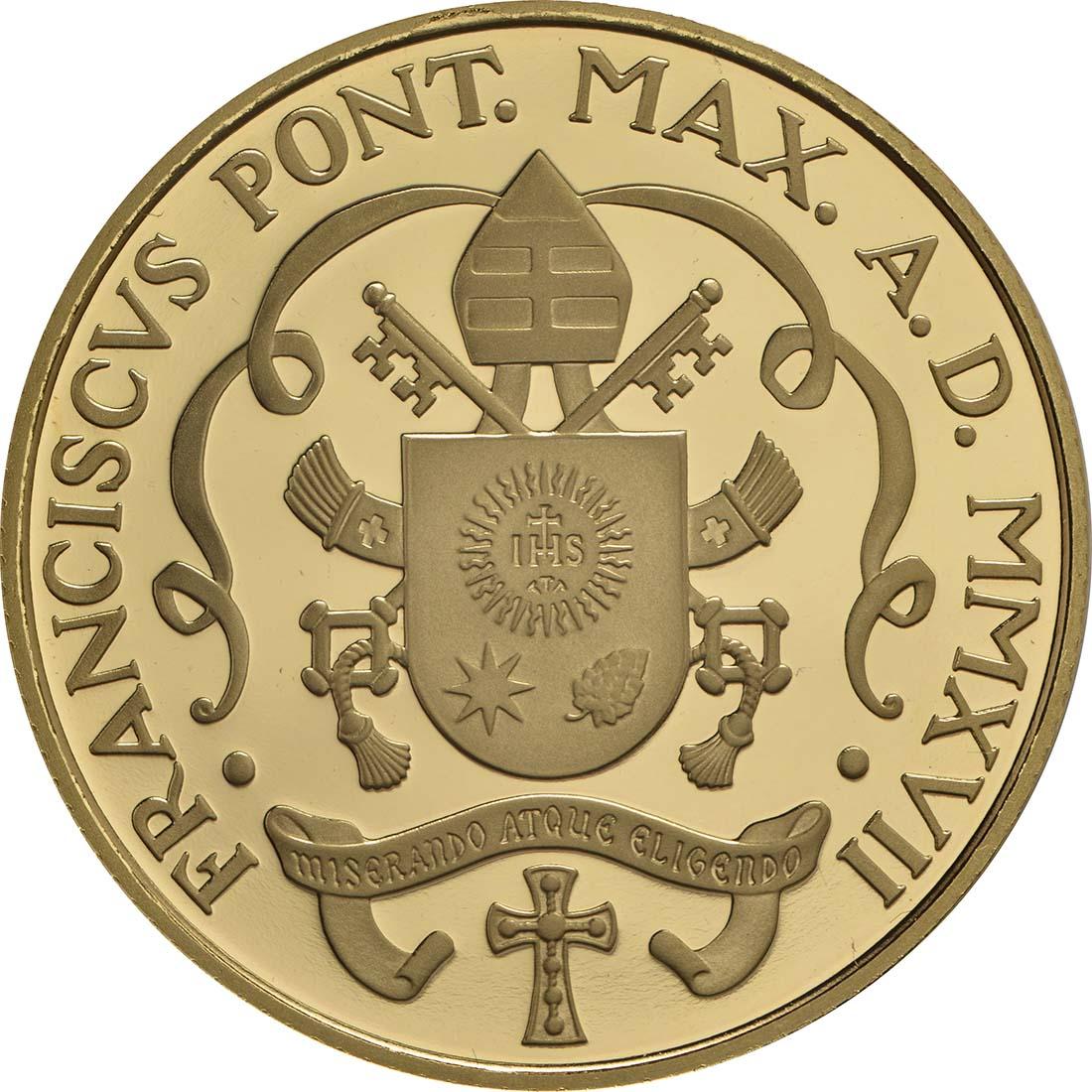 Vorderseite:Vatikan : 53,88 Euro KMS Vatikan mit 50 Euro Gedenkmünze  2017 PP