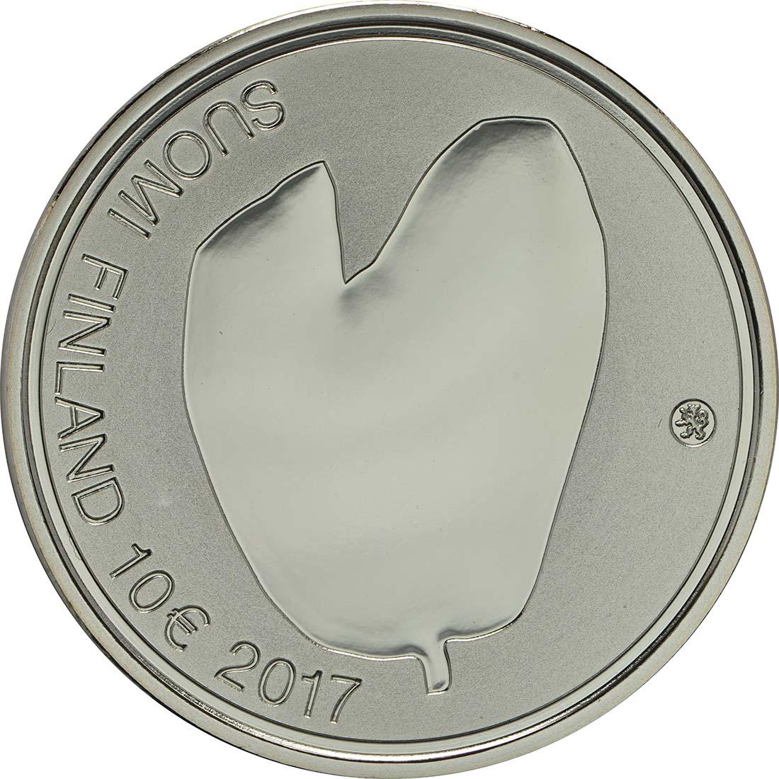 Rückseite :Finnland : 10 Euro Für die Mütter  2017 PP