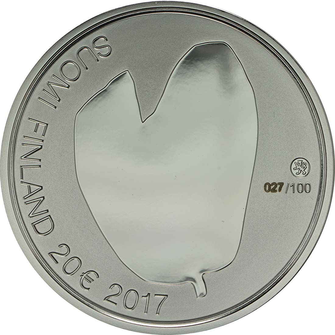 Rückseite :Finnland : 20 Euro Für die Mütter  2017 PP