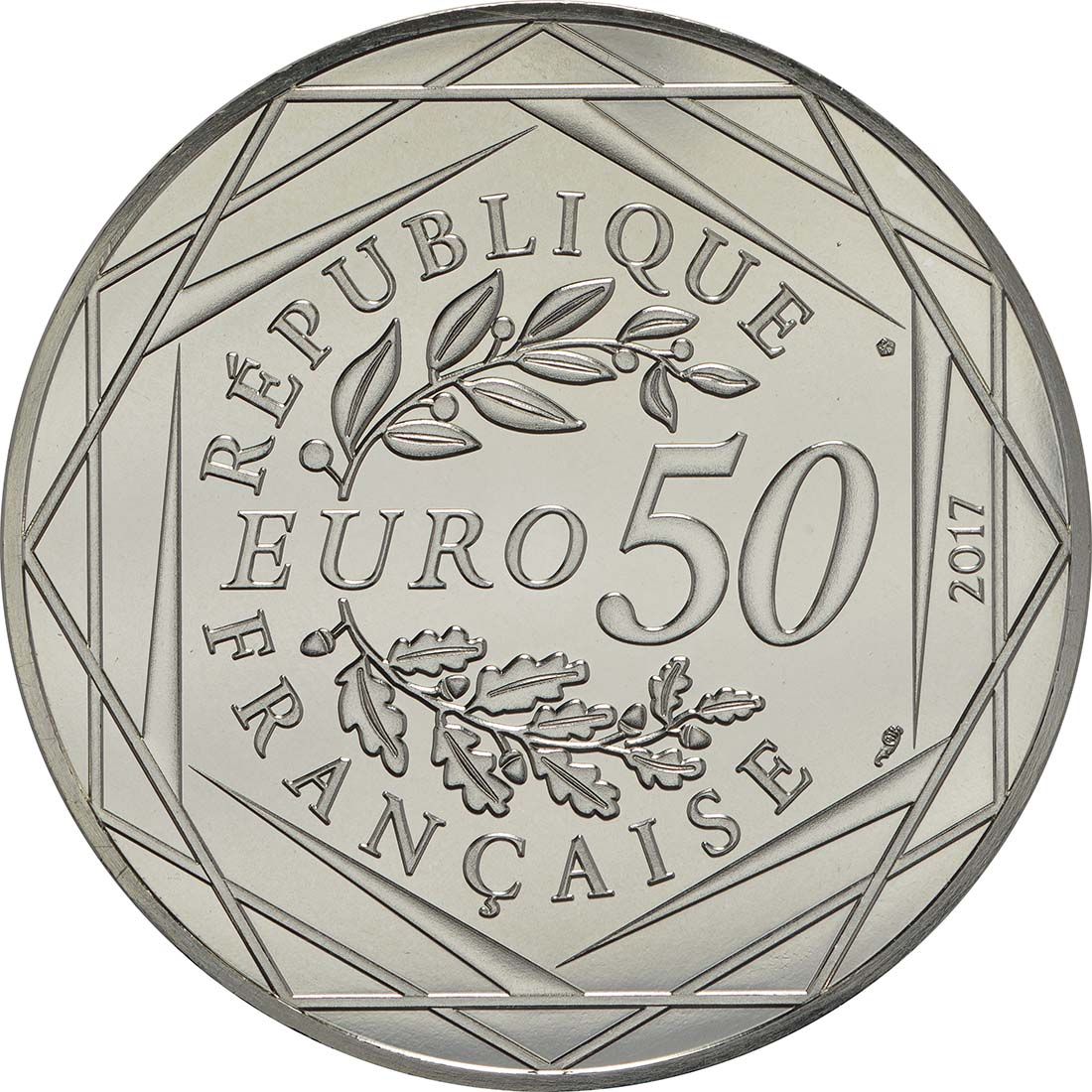 Rückseite:Frankreich : 50 Euro Ausgabe 1 coloriert  2017 bfr