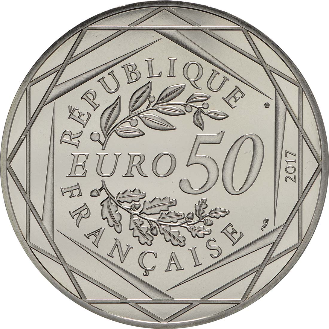 Rückseite :Frankreich : 50 Euro   2017 bfr