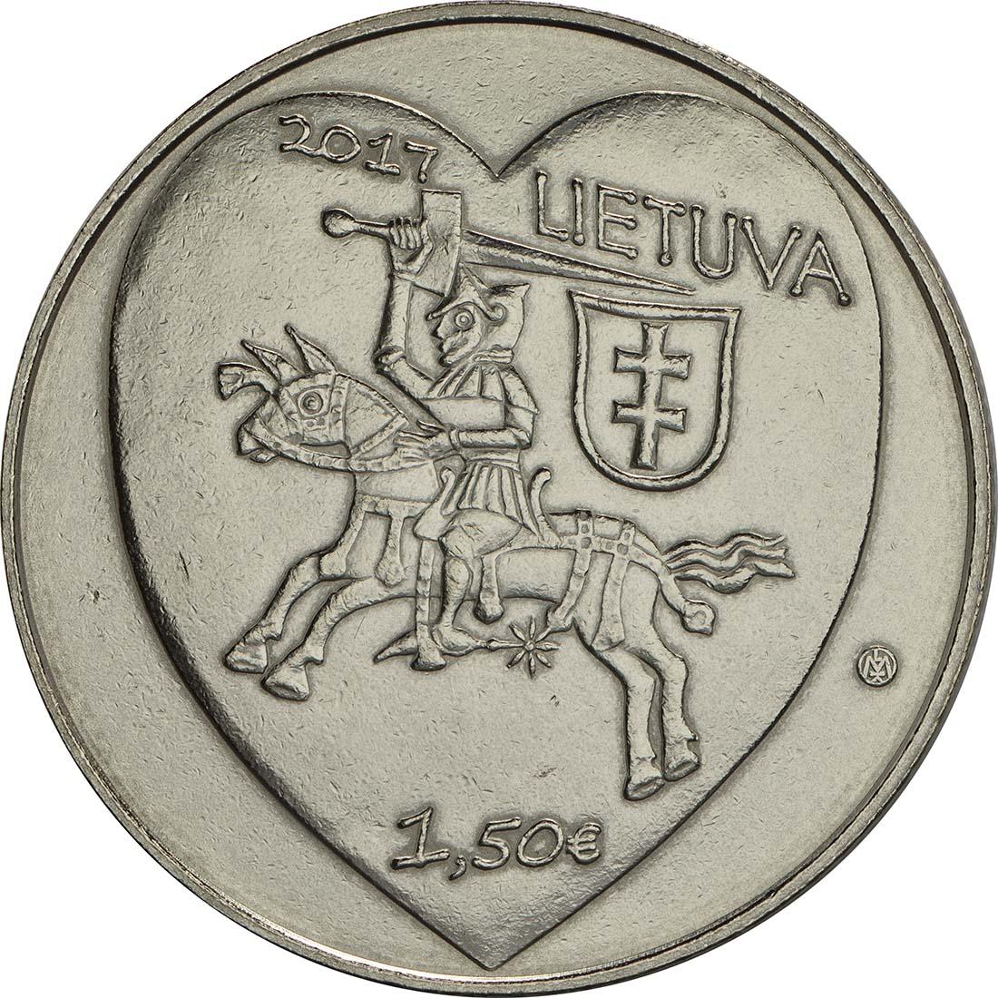 Bild der Rückseite :Litauen - 1,5 Euro Kaziukas  2017 vz.