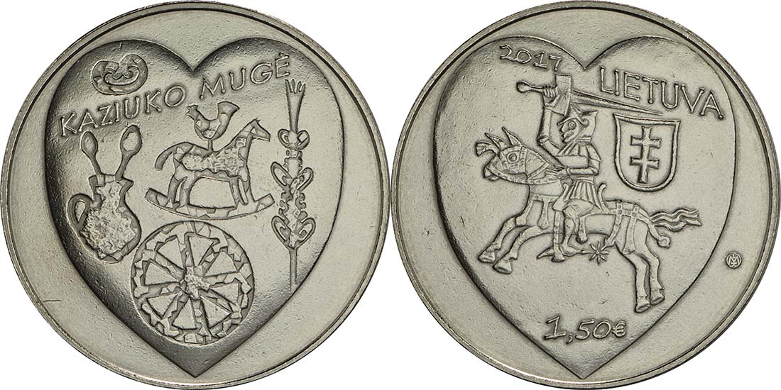 Litauen : 1,5 Euro Kaziukas  2017 vz.