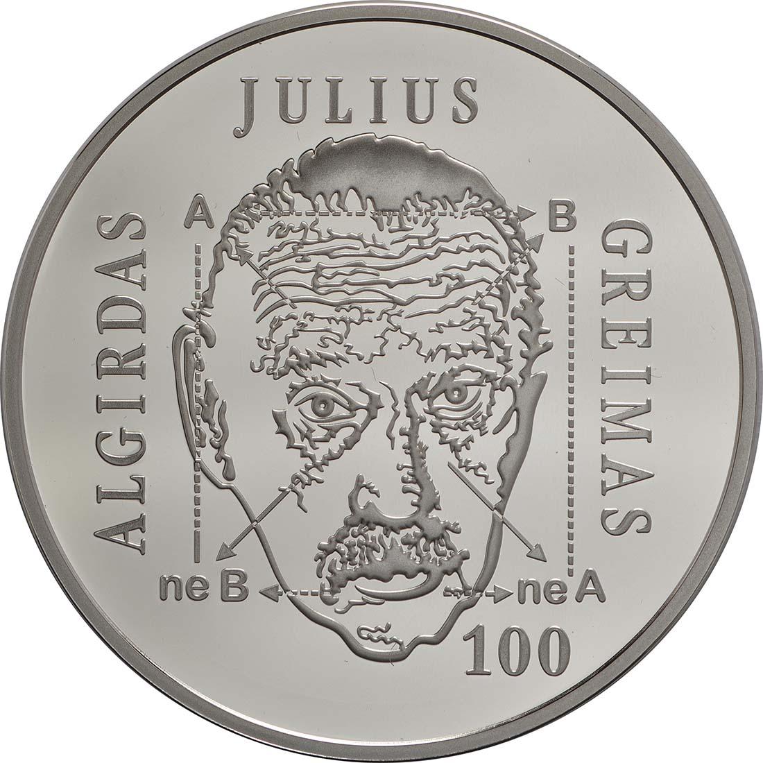 Vorderseite :Litauen : 20 Euro Greimas  2017 PP