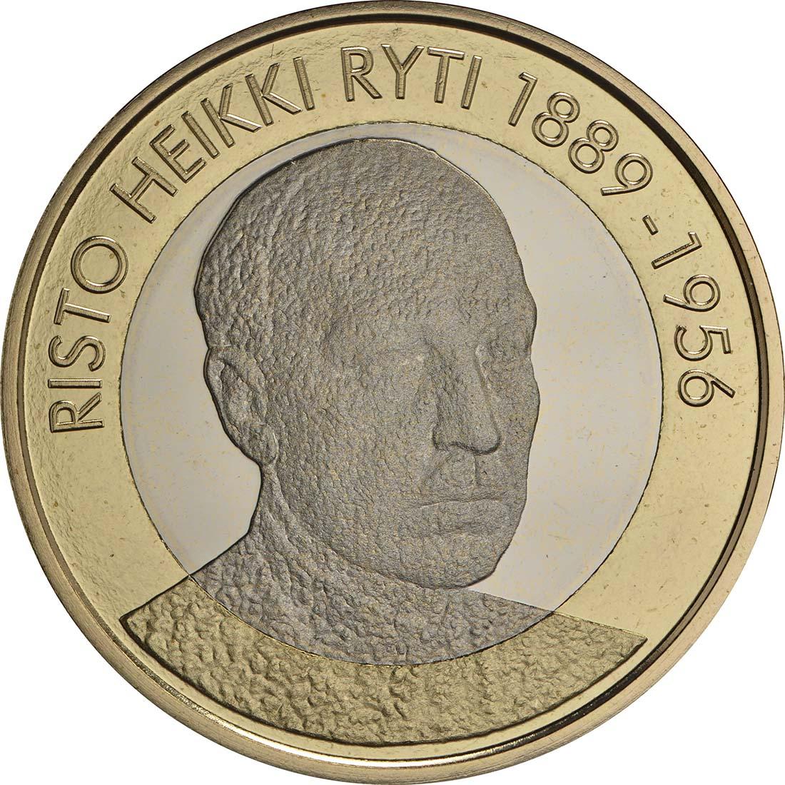 Bild der Vorderseite :Finnland - 5 Euro Ryti  2017 PP