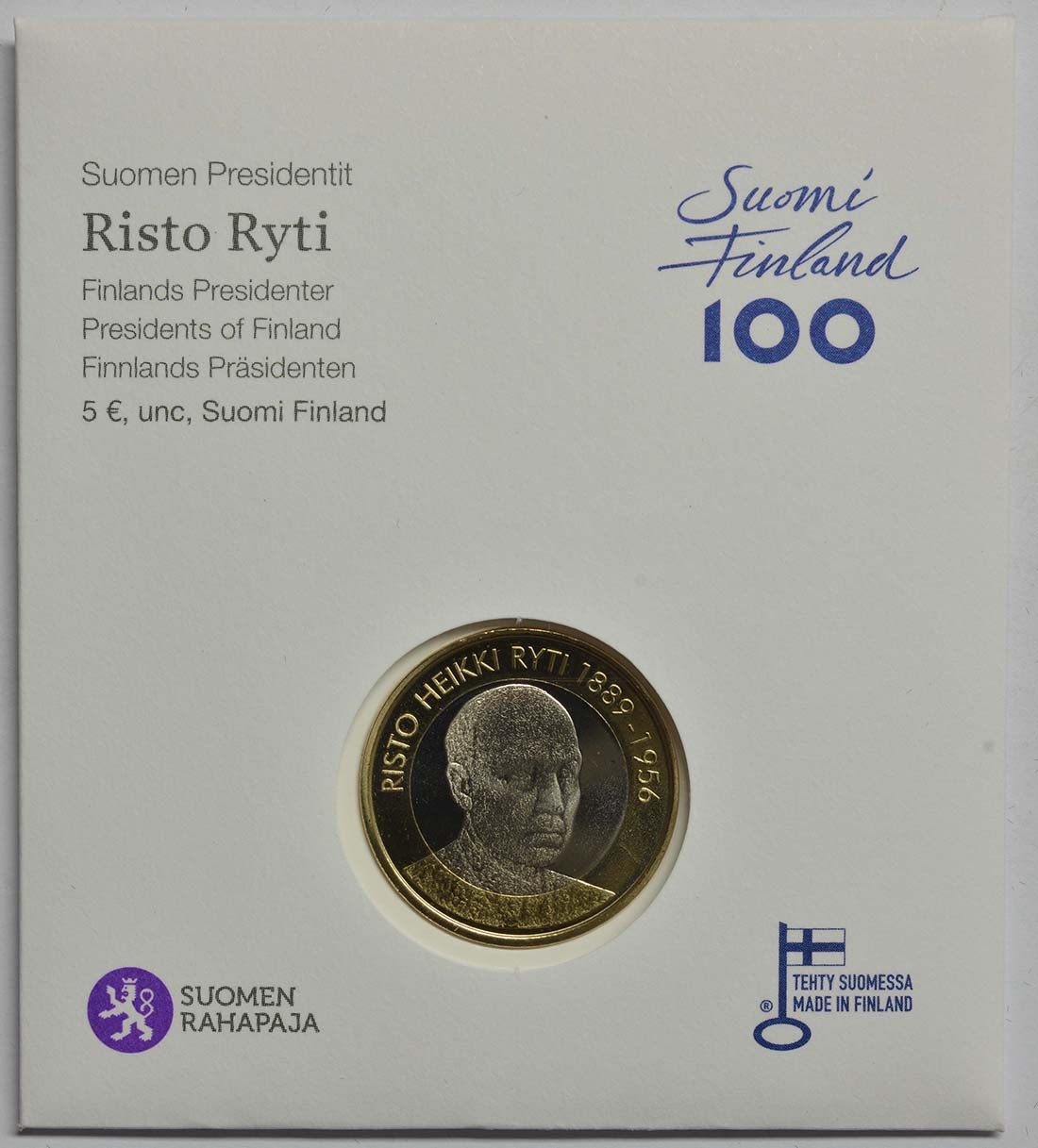 Finnland : 5 Euro Ryti  2017 Stgl.
