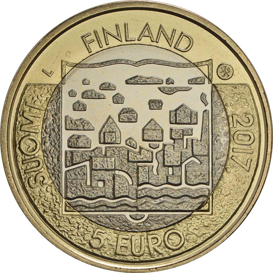 Bild der Rückseite :Finnland - 5 Euro Ryti  2017 bfr