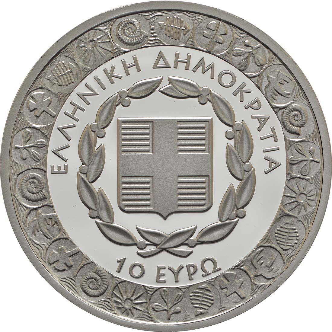Rückseite :Griechenland : 10 Euro Diogenes  2017 PP