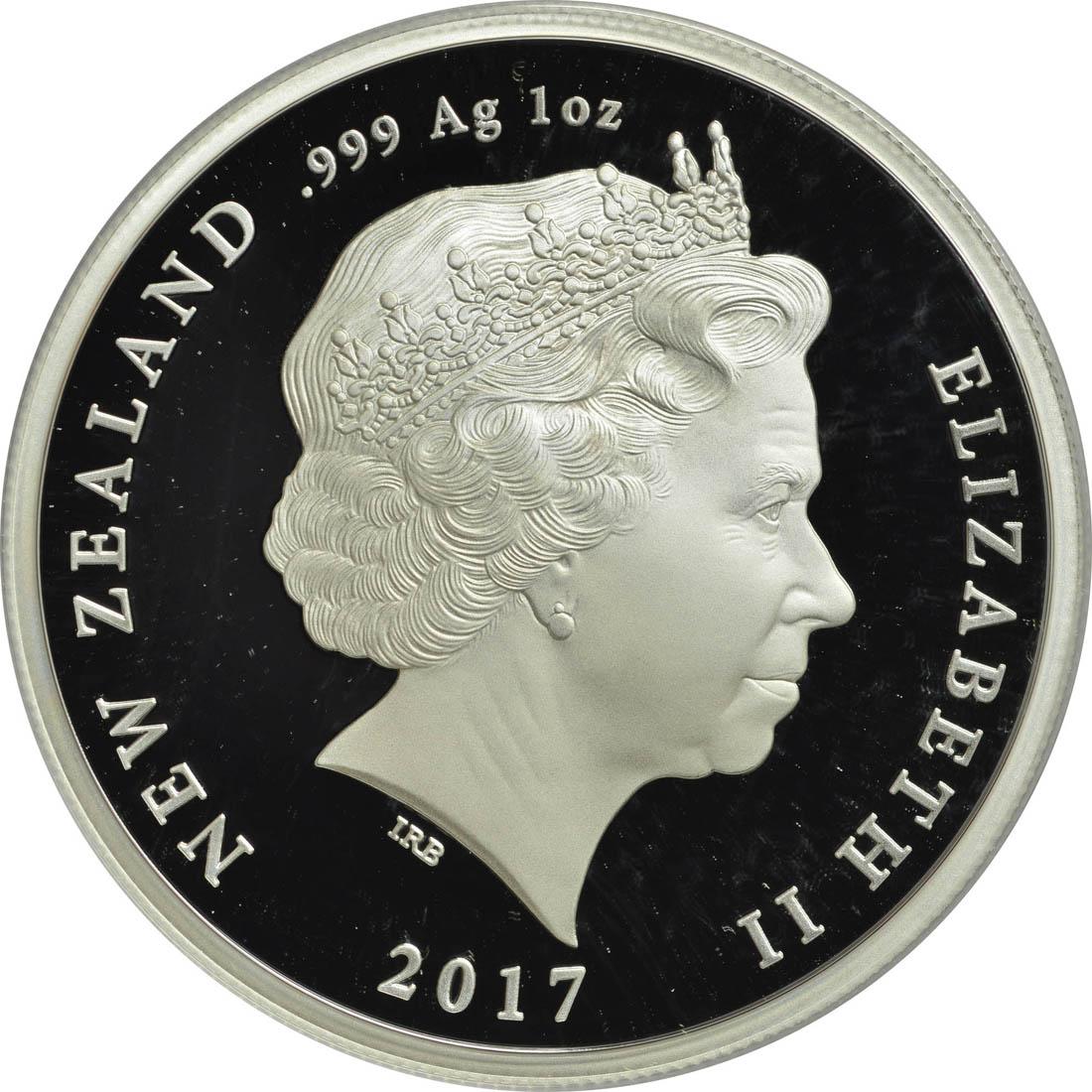 Rückseite :Neuseeland : 1 Dollar The Darkest Hour - Passchendaele - WW1  2017 PP