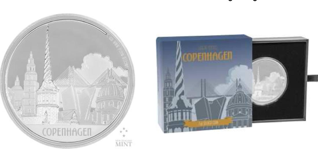 Niue : 2 Dollar Große Städte - Kopenhagen  2017 PP