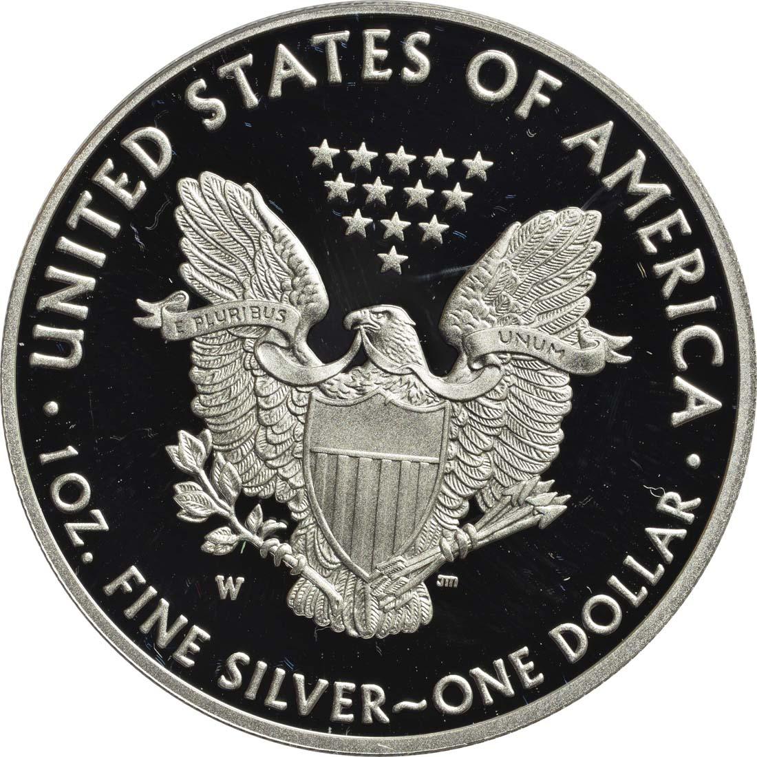 Rückseite :USA : 1 Dollar Silber Eagle  2017 PP