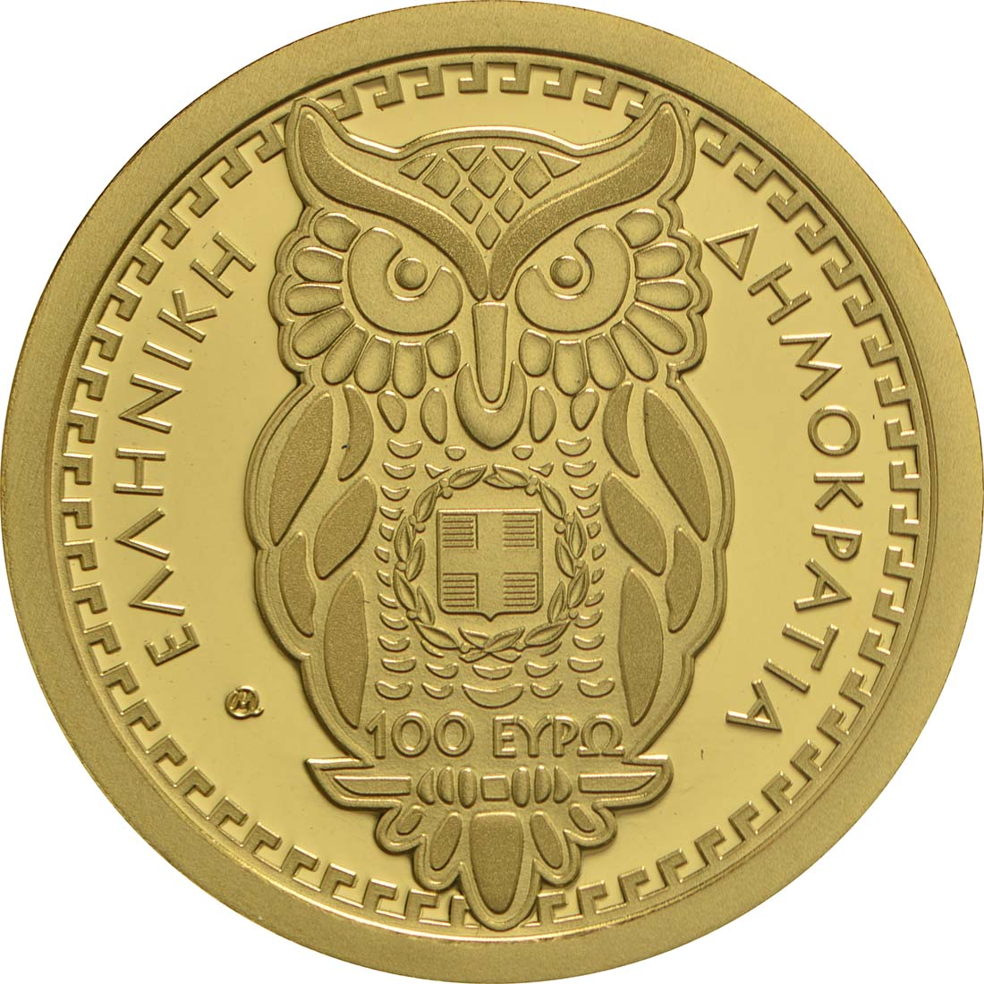 Rückseite :Griechenland : 100 Euro Olympische Götter - Athena  2017 PP