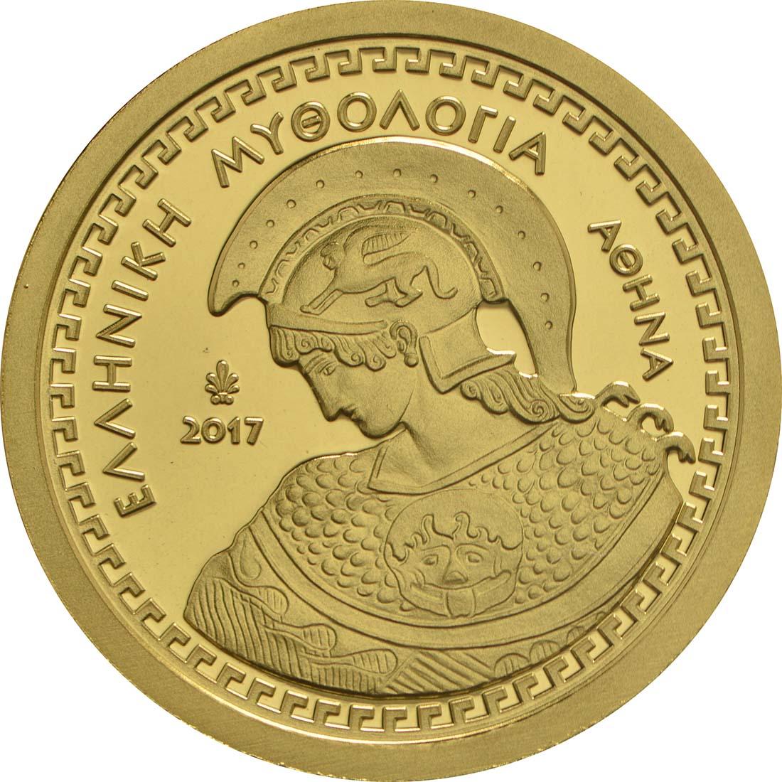 Vorderseite :Griechenland : 100 Euro Olympische Götter - Athena  2017 PP