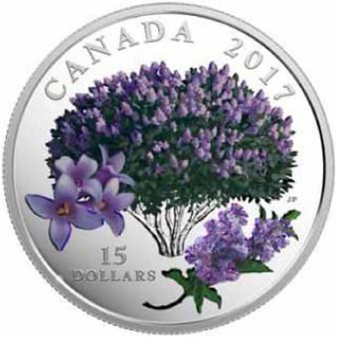 Kanada : 15 Dollar Blühender Flieder - Lilac Blossoms  2017 PP