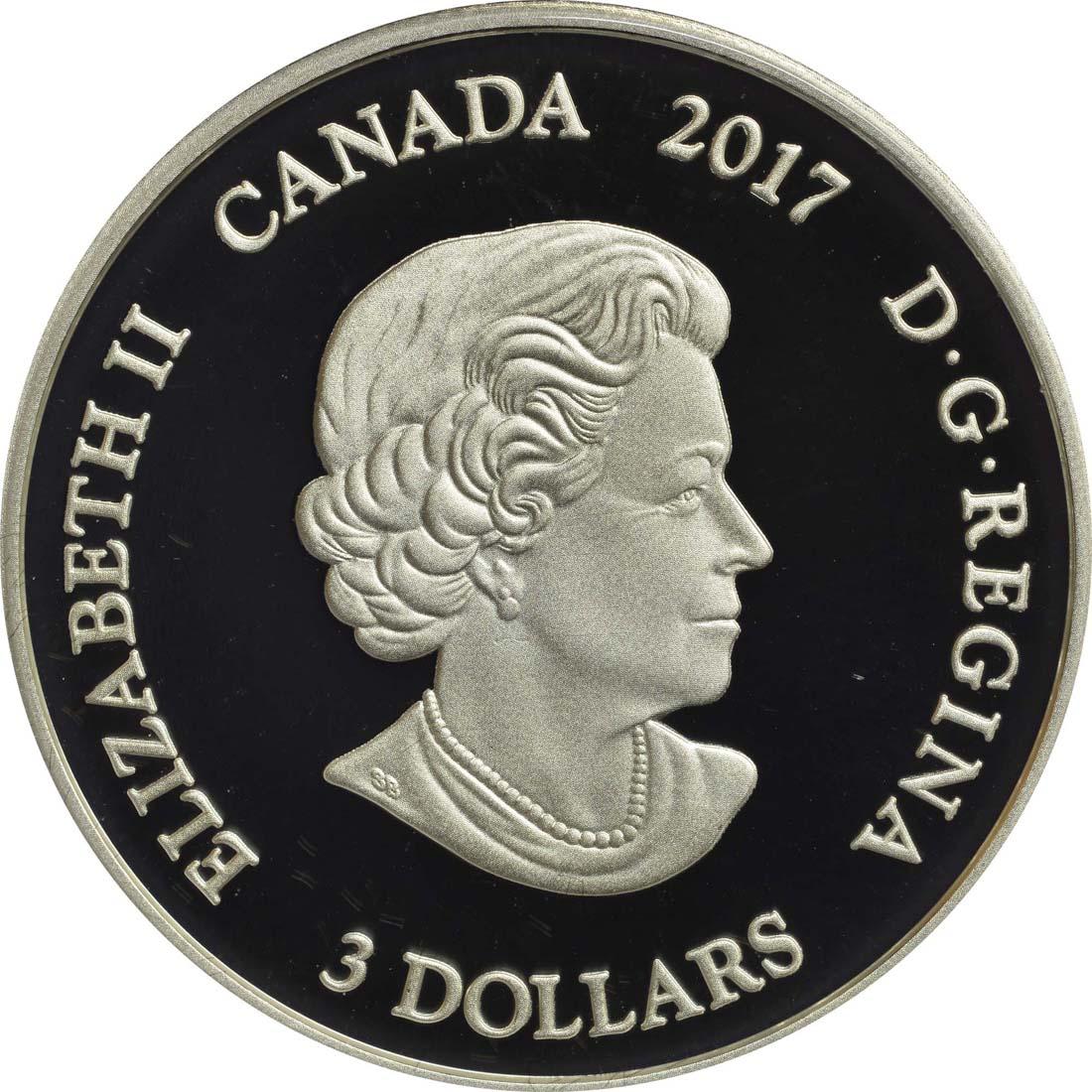 Rückseite :Kanada : 3 Dollar Stier - 21. April bis 20. Mai  2017 PP