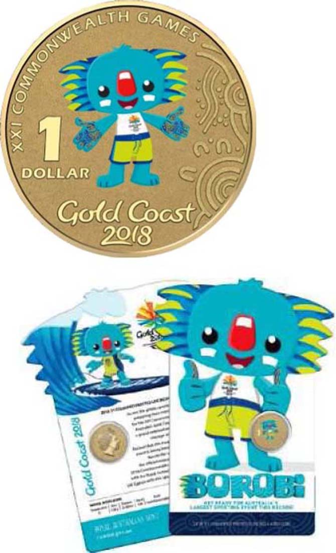 Australien : 1 Dollar Commonwealth Games - Borobi  2017 Stgl.