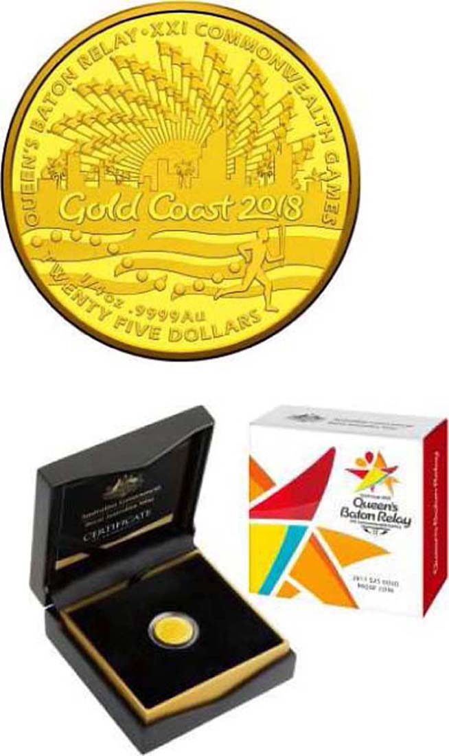 Australien : 25 Dollar Commonwealth Games in Gold Coast  2017 PP