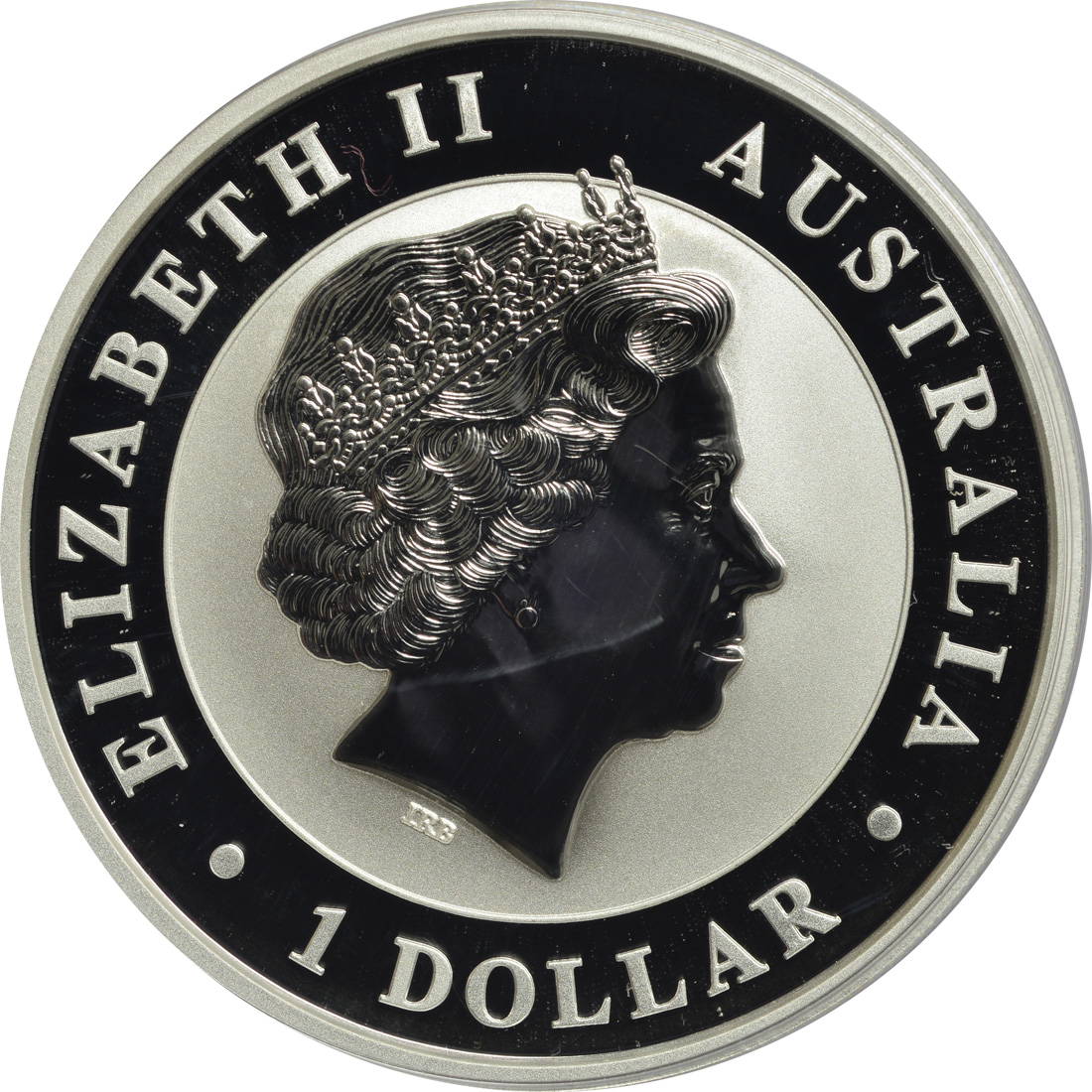 Rückseite :Australien : 1 Dollar Australisches Stock Horse  2017 Stgl.