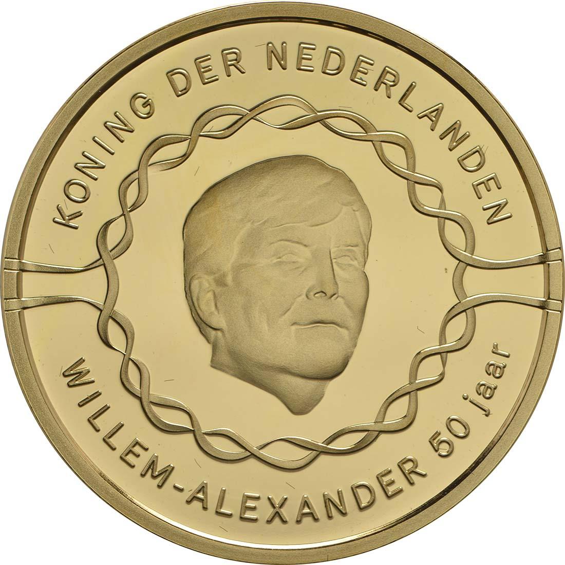 Vorderseite :Niederlande : 50 Euro 50 Jahre König Willem Alexander  2017 PP
