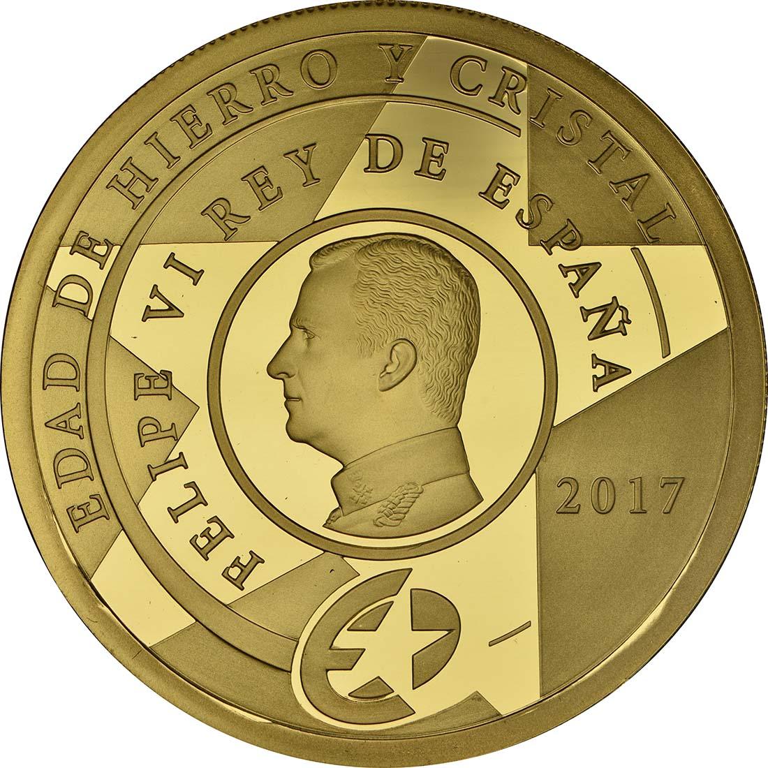 Rückseite :Spanien : 200 Euro Zeitalter von Stahl und Glas  2017 PP