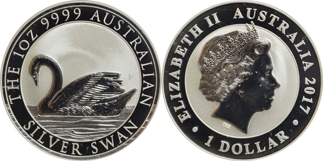 Australien : 1 Dollar Schwan  2017 Stgl.