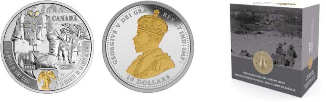 Kanada : 20 Dollar 100 Jahre Schlacht von Vimy Ridge - 1. Weltkrieg  2017 PP